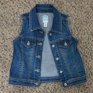 Old Navy little girls Jean vest
